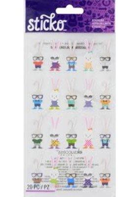 Sticko Sticker Hipster Bunnies