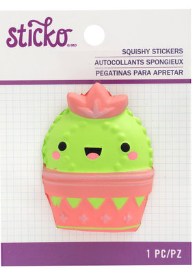Sticko Squishy Sticker Cactus