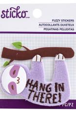 Sticko Fuzzy Sticker Sloth