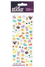 Sticko Sticker Tiny Jungle Animals