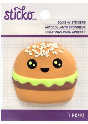 EK Squishy Sticker Hamburger