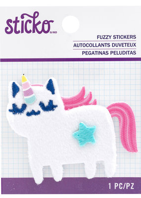 Sticko Fuzzy Sticker Unicorn Cat