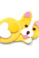 EK Fuzzy Sticker Fat Corgi