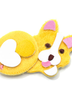EK Fuzzy Sticker Fat Corgi