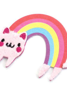 Sticko Fuzzy Sticker Rainbow Cat