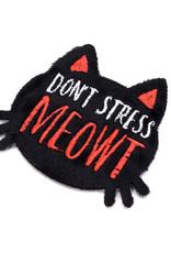 Sticko Fuzzy Sticker Don't Stress Meowt