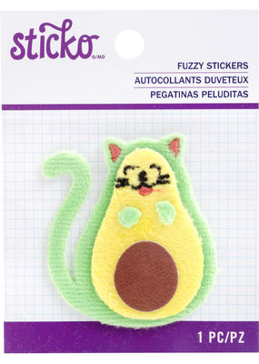 EK Fuzzy Sticker Avocato