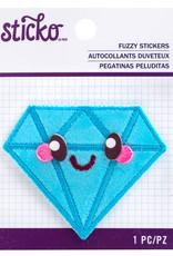 Sticko Fuzzy Sticker Kawaii Diamond