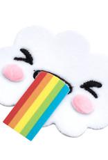Sticko Fuzzy Sticker Rainbow Cloud