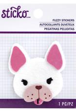 EK Fuzzy Sticker Frenchie
