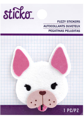 EK Fuzzy Sticker Frenchie