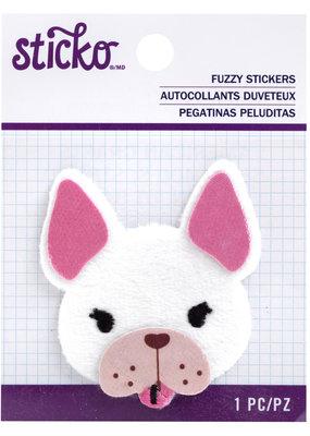 Sticko Fuzzy Sticker Frenchie