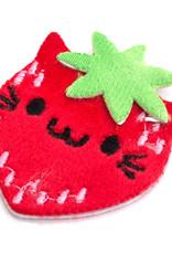 EK Fuzzy Sticker Strawberry Cat