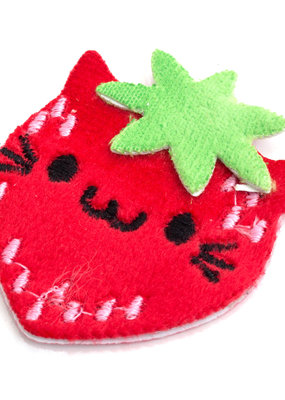 EK Fuzzy Sticker Strawberry Cat