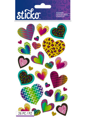 Sticko Sticker Patterned Hearts