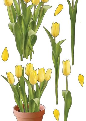 EK Stickers Photo Flowers Yellow Tulips