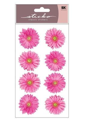 EK Sticker Pink Gerbera