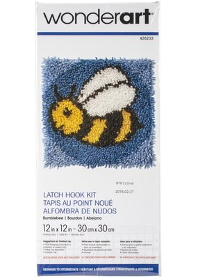 Wonderart Latch Hook Kit Bumblebee