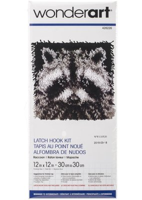 Wonderart Latch Hook Kit Raccoon