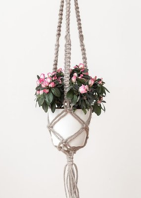 Hoooked Macrame Hanging Basket Kit Juta Cinnamon Taupe