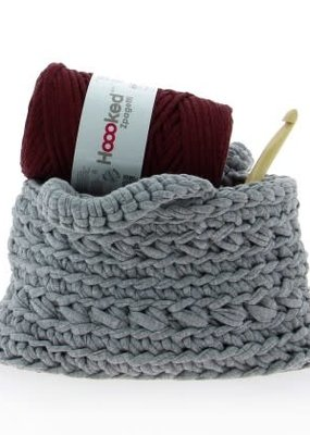 Hoooked Crochet Kit Basket Revisto Grey