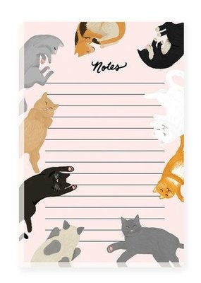 Slightly Stationery Notepad Cats