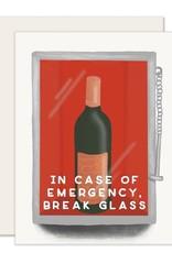 Slightly Stationery Card Emergency Wine
