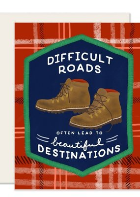 Slightly Stationery Card Difficult Roads