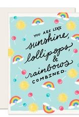 Slightly Stationery Card Sunshine Lollipops And Rainbows