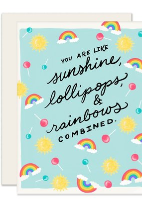 Slightly Stationery Card Sunshine Lollipops And Rainbows