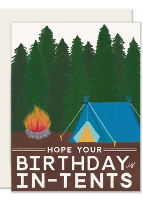 Slightly Stationery Card In Tents