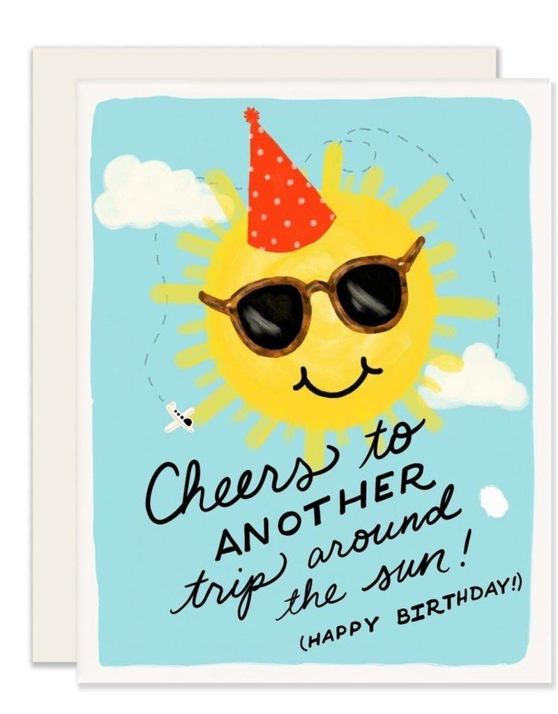 Slightly Stationery Card Around The Sun