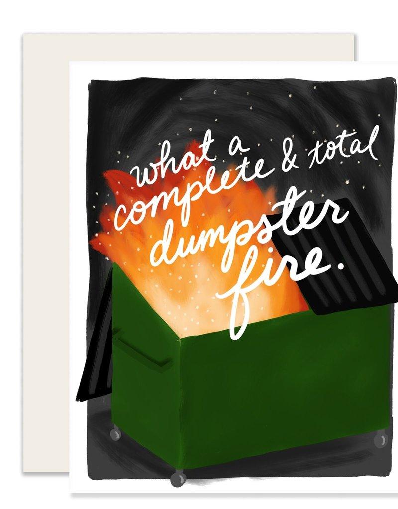 Slightly Stationery Card Dumpster Fire