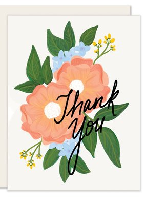 Slightly Stationery Card Floral Thank You