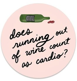 Slightly Stationery Sticker Out of Wine