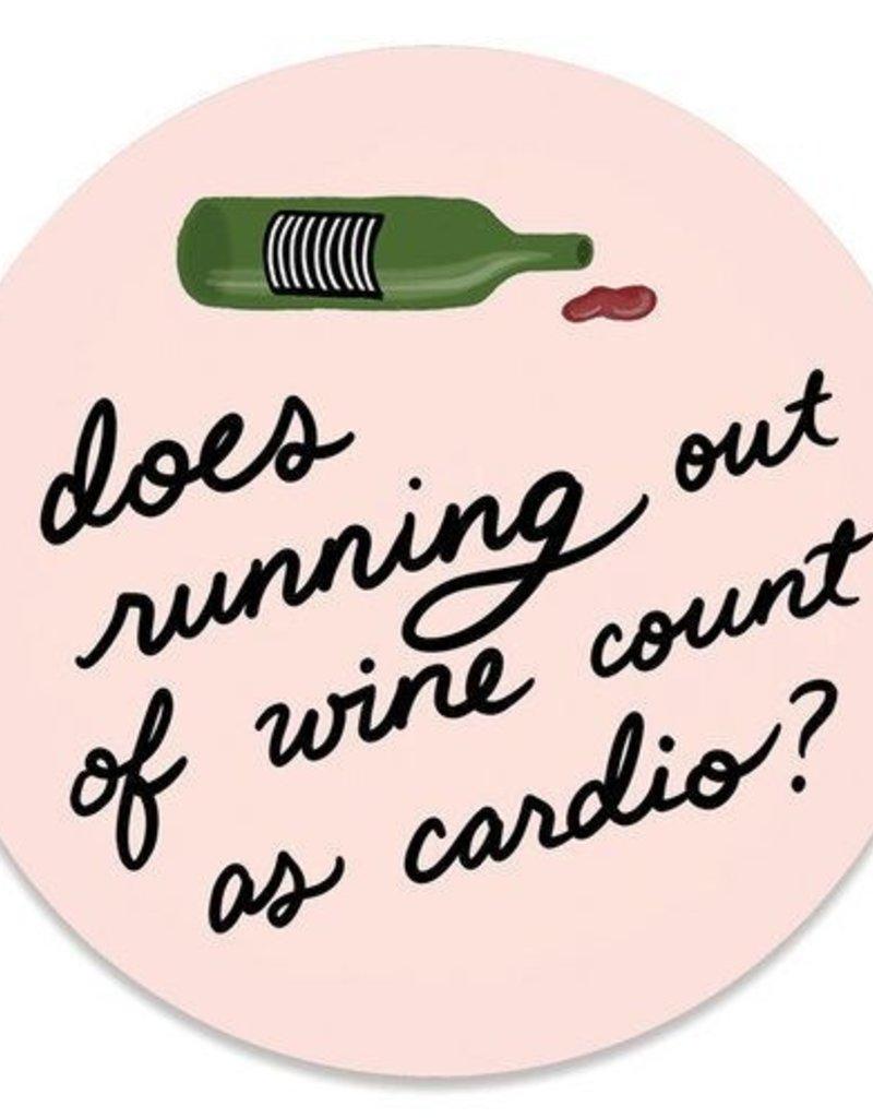 Slightly Stationery Sticker Out of Wine