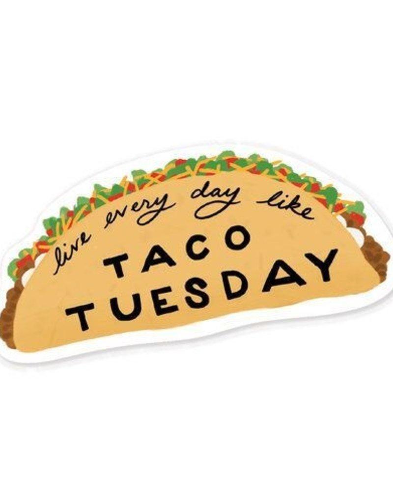 Slightly Stationery Sticker Taco Tuesday