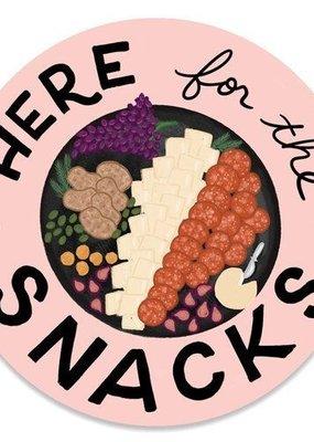 Slightly Stationery Sticker Here For The Snacks