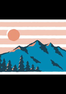 Stickers NW Sticker Golden Hour Mountain Range