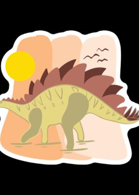 Stickers NW Sticker Stegosaurus 2.0