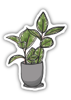 Stickers NW Sticker Rubber Plant