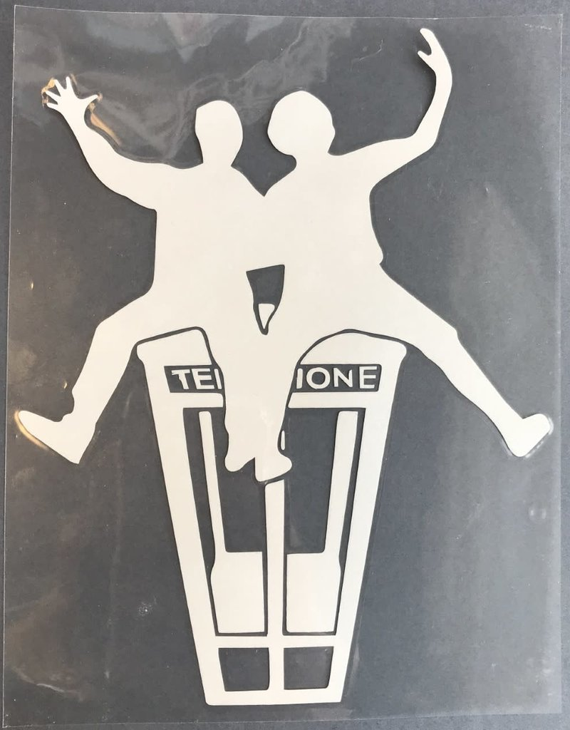 collage Car Decal Sticker Bill And Ted's Excellent Adventure Silver
