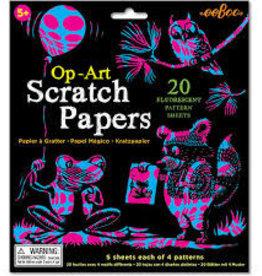 eeBoo Scratch Papers Op-Art