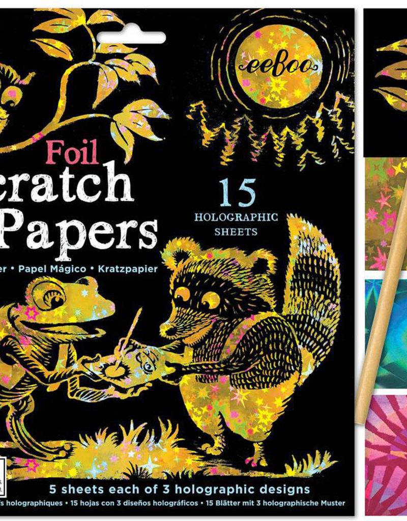 eeBoo Scratch Papers Foil