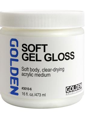 Golden Golden Acrylic Soft Gel Gloss 16 Ounce