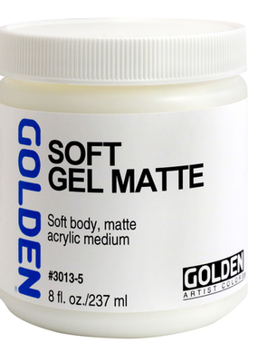 Golden Golden Acrylic Soft Gel Matte 8 Ounce