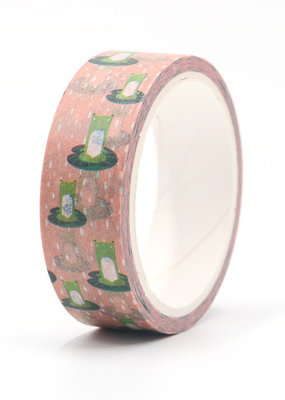 collage Washi Lillipad Frog Pink