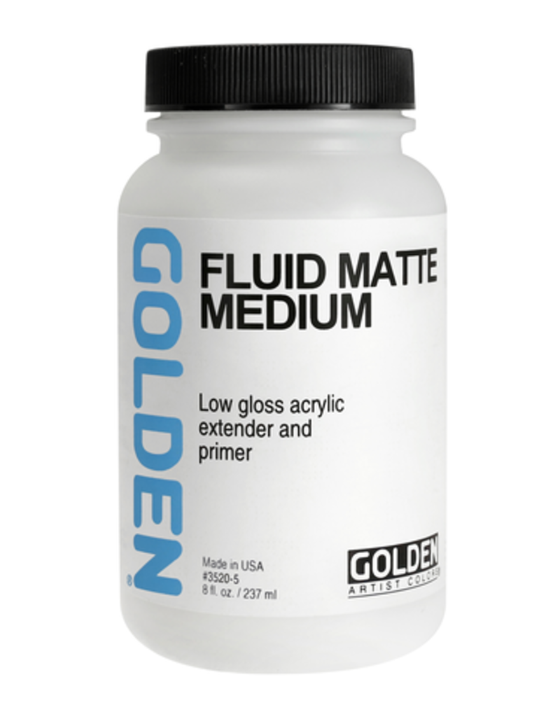 Golden Golden Acrylic Fluid Matte Medium 8 Ounce