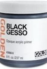 Golden Golden Acrylic Black Gesso 8 Ounce