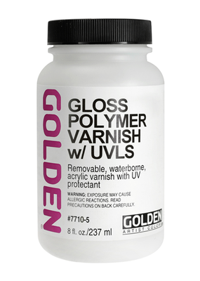 Golden Golden Acrylic Polymer Varnish Gloss 8 Ounce